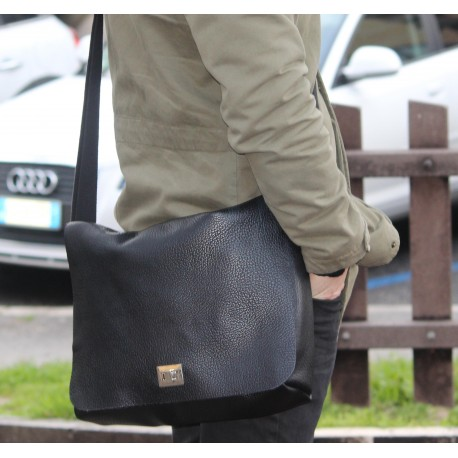 Borsa Alex in pelle nera